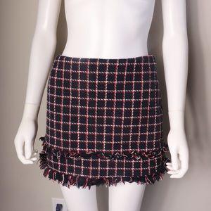 Zara Ruffled Tattered School Girl Plaid Skirt
